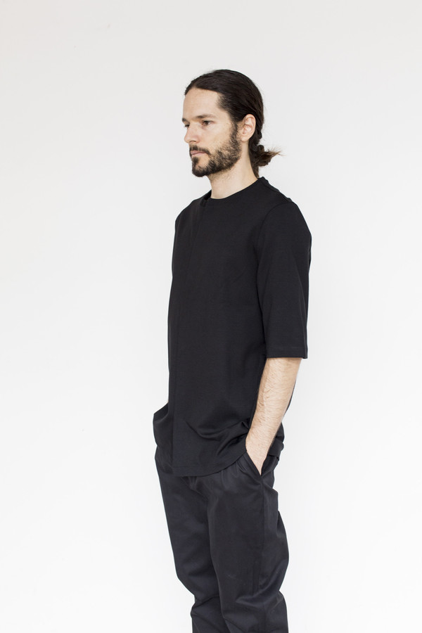 Men's Tom Wood Viscose Button Tee
