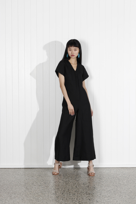 No.6 Miriam V Neck Jumpsuit - BLACK