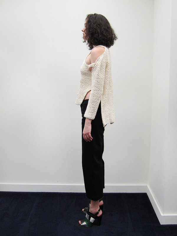 Eckhaus Latta Tie In Halter Sweater
