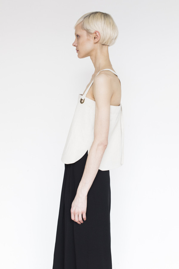 Assembly Cotton Strap Top - Natural
