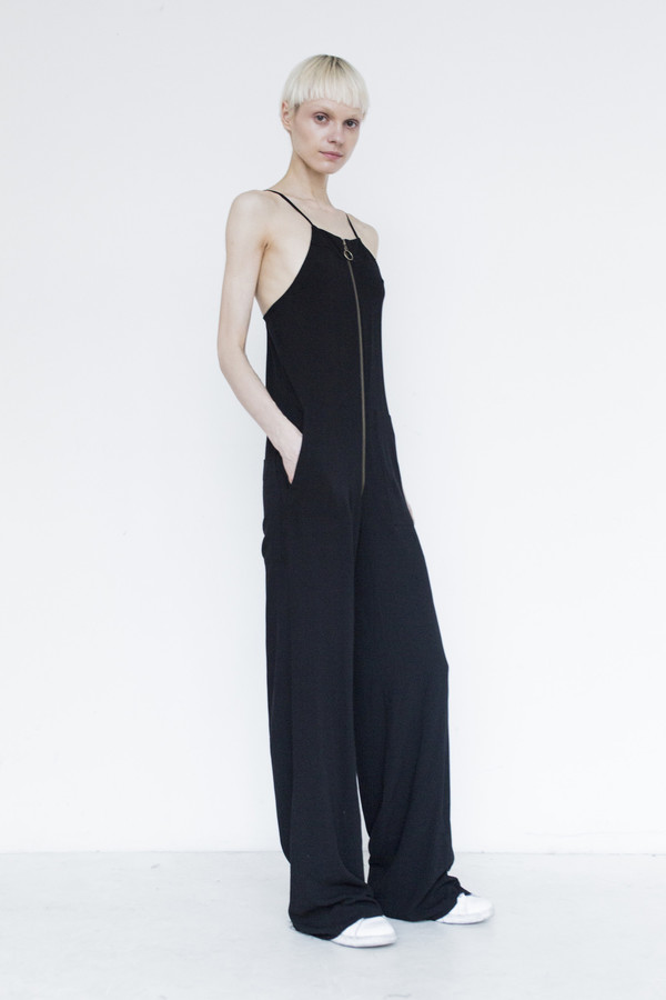 Assembly Crepe Dungarees