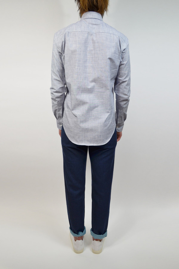 Men's United Stock Dry Goods Slub L/S Shirt I Blue