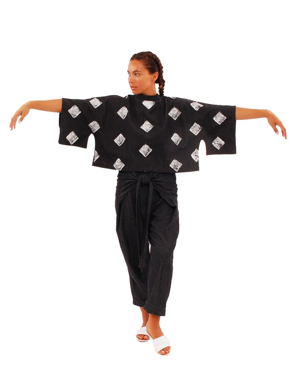 323 Hand Stamped Kimono Top