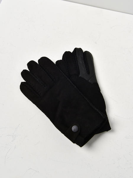 UGG M SLIM SHEEPSKIN GLOVE - BLACK