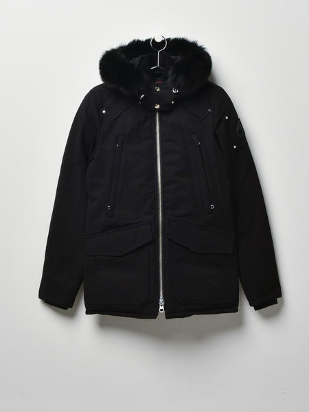 MOOSE KNUCKLES M Pearson Jacket - BLACK/BLACK FOX