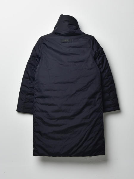 ADD DOWN COAT WITH DOWN PADDING - BLACK