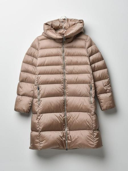 ADD DOWN HOODED DOWN LONG COAT - CHAMPAGNE