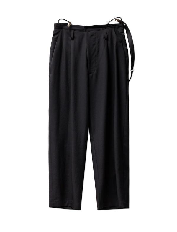 Ys by Yohji Yamamoto Suspender Trousers Gabardine Black