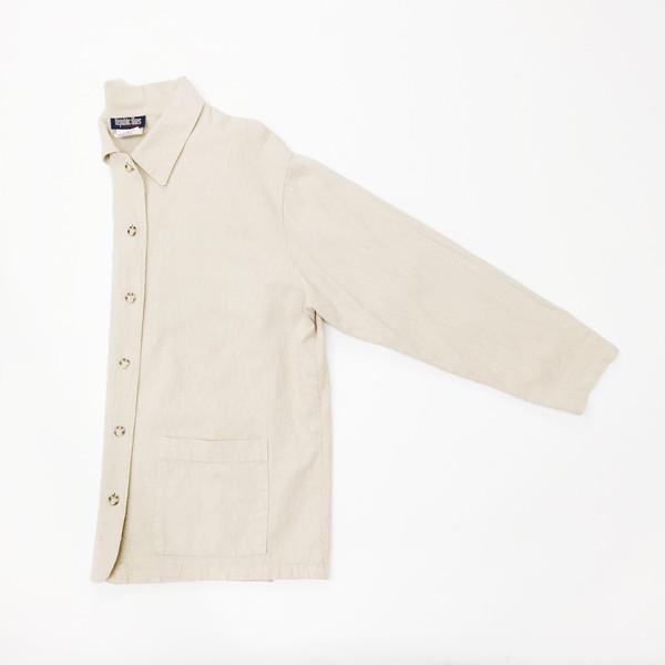 Oversized Tan Cotton Jacket