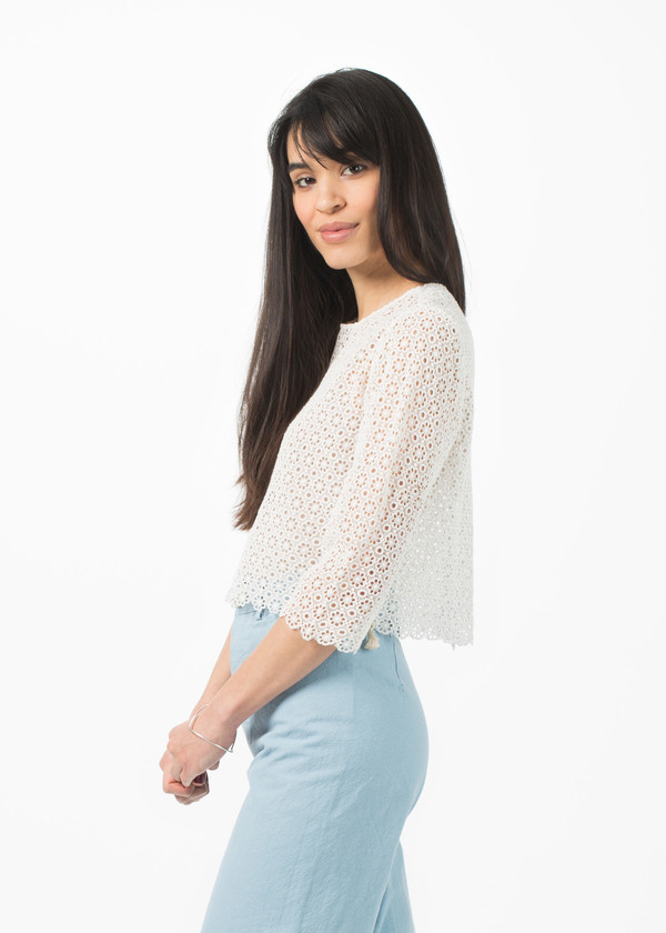 Pero Cropped Flower Top