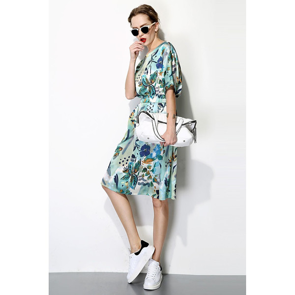 FEW MODA TROPICAL PRINT DRESS