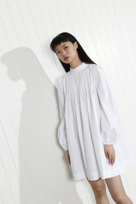 Ganni Slate Dress - Bright White