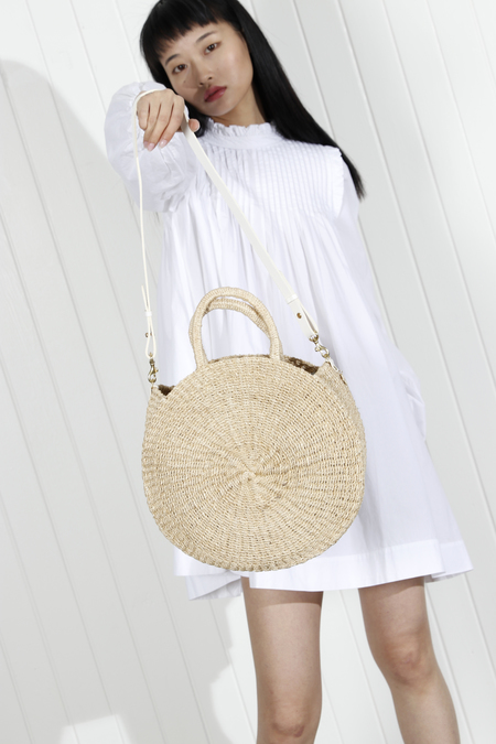 Clare V. Large Alice Woven Bag - Natural