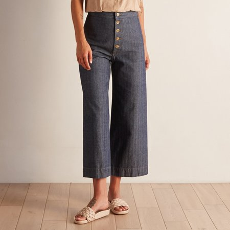The Odells Button Front Sailor Pant - Pompeii