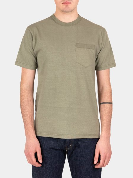 National Athletic Goods Rib Pocket Tee - Army Fade