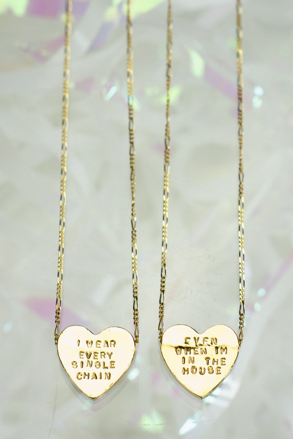 "ERICA WEINER Heartbeats Necklace ""I Wear Every Single Chain Even When I'm In The House"""
