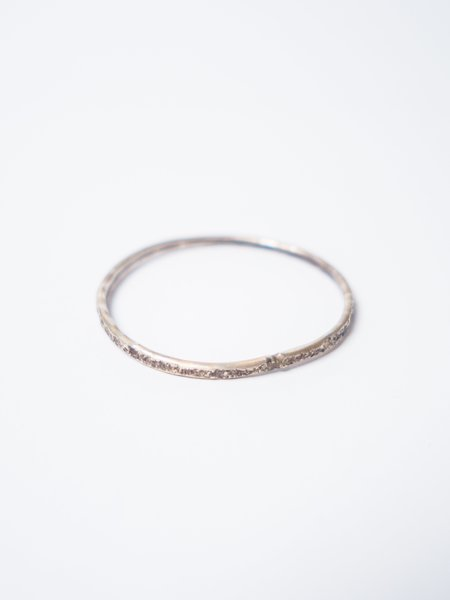 CAUSE AND EFFECT TEXTURED THIN CUFF - STERLING SILVER