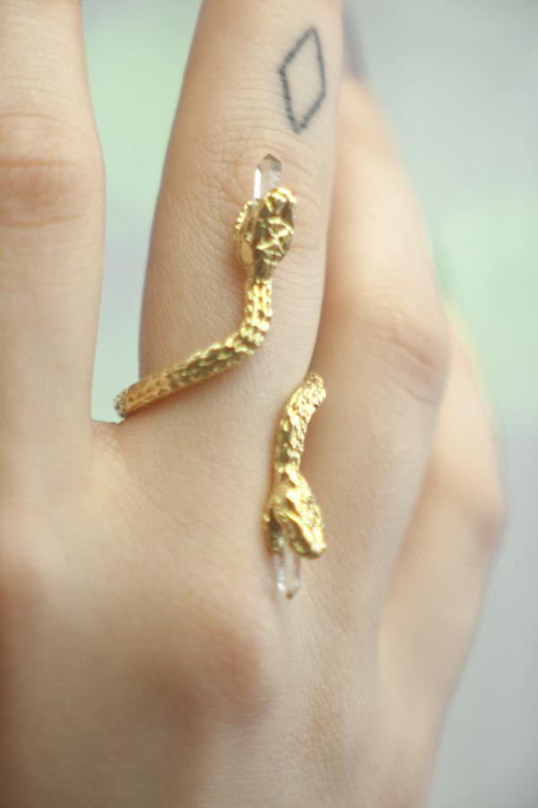 Good Girl Jewelry Swimming Serpent Ring