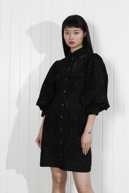 Ganni Sandrose Dress - Black