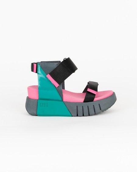 United Nude Delta Run Sandals - Pink/Green