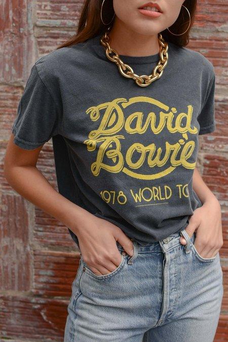 Retro Brand Black Label David Bowie Tour Cut Off Tee - Black