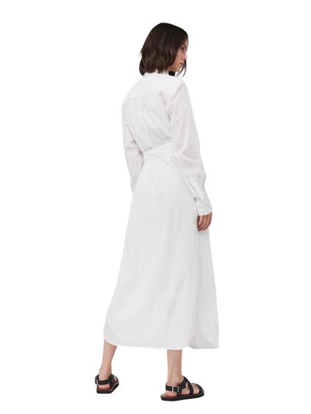 Victoria Beckham LONG SHIRT DRESS - WHITE