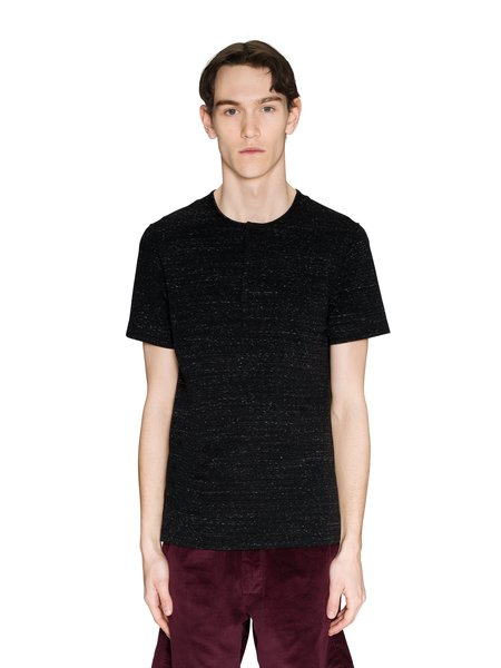 Wings + Horns Knit Jersey Signals Henley - Static Black