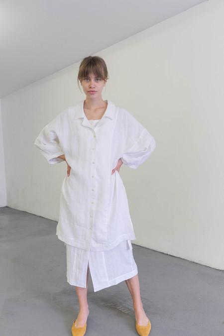 ILANA KOHN HARRISON DRESS - CHALK