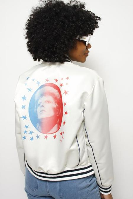 STONED IMMACULATE BOWIE BOMBER JACKET - CREAM