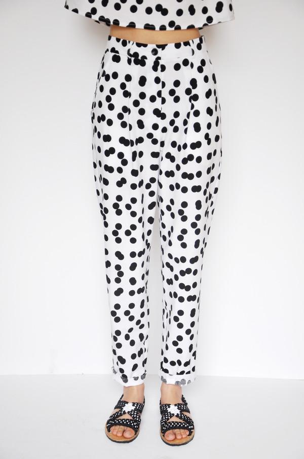 Dusen Dusen Double Dot Pleated Pants