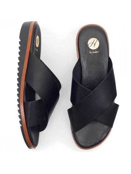Hudson Sky Slip on Sandals - Black