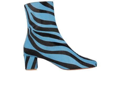 6417449e3b BY FAR Sofia in Blue Zebra Print Pony