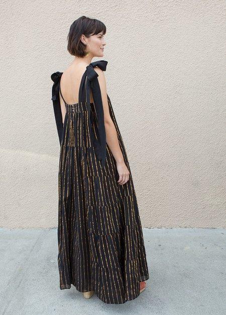 Aish Rayna Dress - Black/Gold