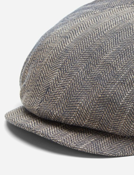 Stetson Harwinton Flat Cap in Linen - Mottled Dunkel Beige