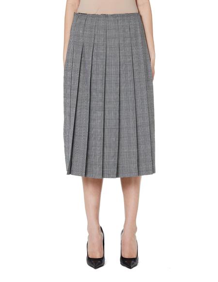 0166da028df7 ... Comme des Garçons Pleated Skirt with Side Slits - grey