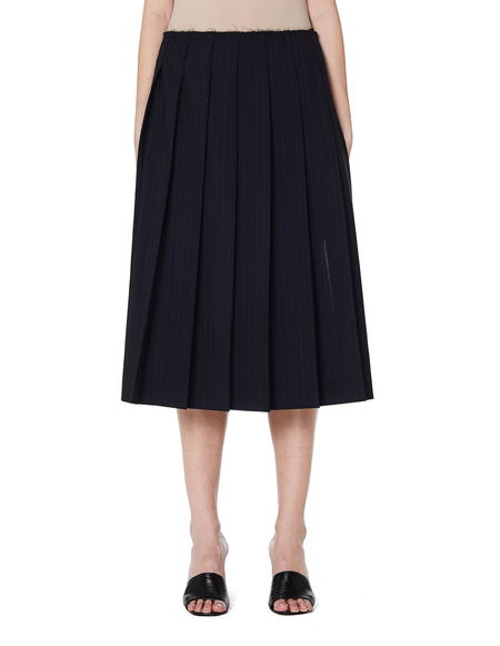 3c1be4fef9 ... Comme des Garçons Pleated Midi Skirt with Side Slits - Blue