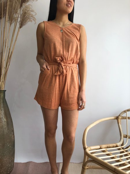 EVE GRAVEL ANDALUSIA JUMPSUIT - GRAPEFRUIT