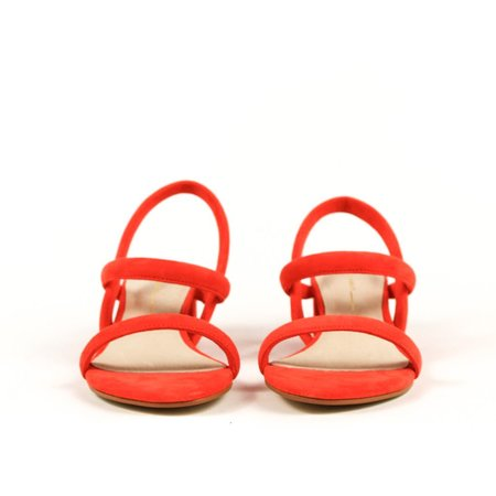 """""""INTENTIONALLY __________."""" suede sandal Kimi - coral"""
