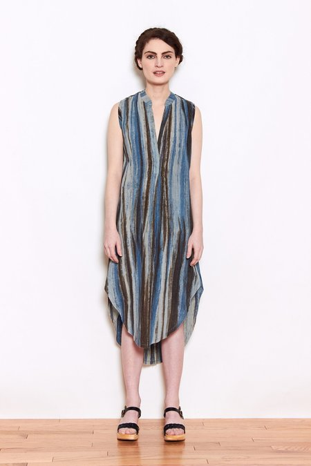 Launderette Olivia Dress - Blue Combo