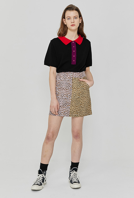 ROCKET X LUNCH R Long Front Knit Top - Black