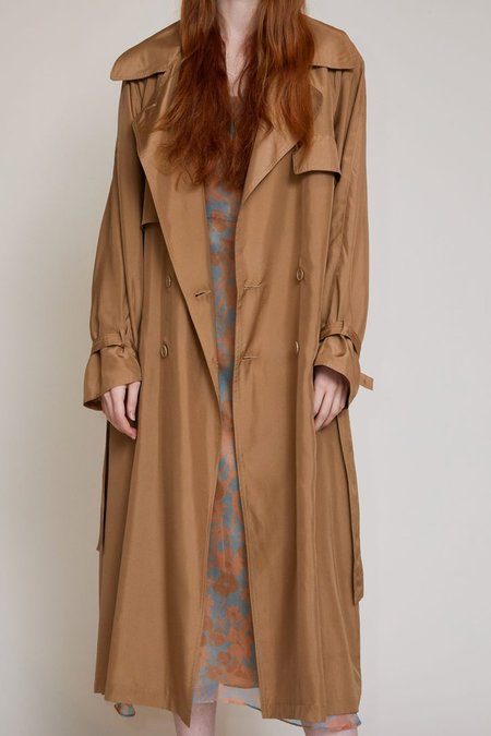 No.6 Peterman Trench Coat - Camel
