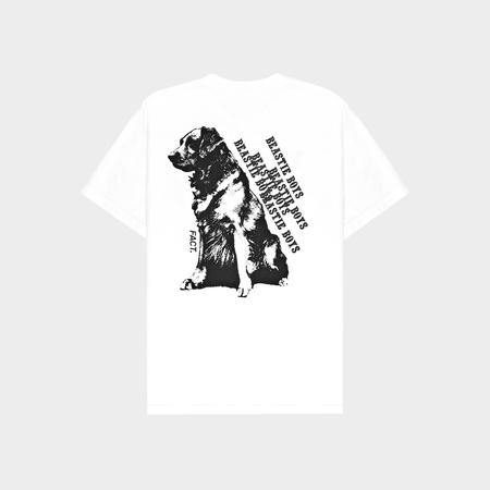Fact Brand Beastie Boys Dog Short Sleeve Tee - White