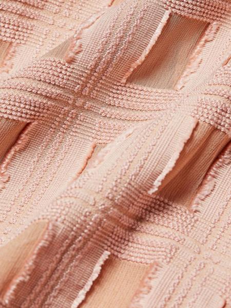 RACHEL COMEY Fond Long Sleeve Check Blouse - Blush