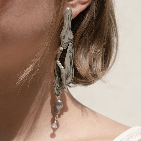 Leigh Miller Current Earrings - Sterling Silver
