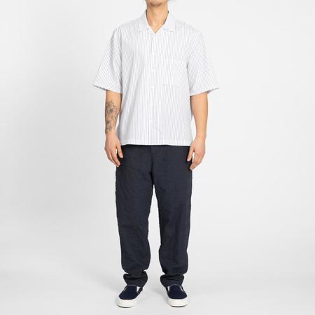 S.K. Manor Hill Aloha Shirt - White/Blue Pinstripe