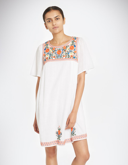 YMC Floral Embroidery Dress