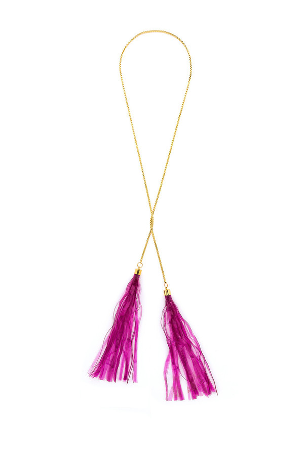 ISLYNYC Fruit Roll Up Tassle Necklace