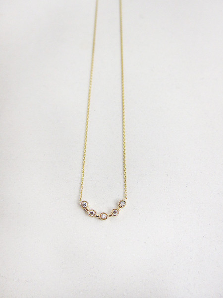 Quarry Cas Necklace, White Diamond