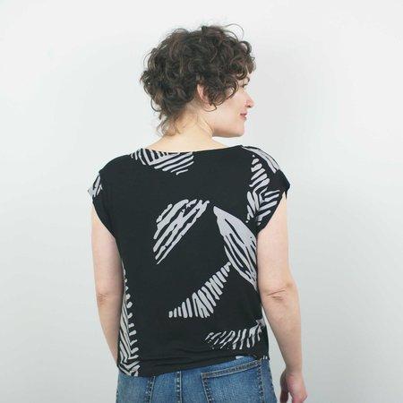 Dagg & Stacey Ferris Top - Black Leaf Print