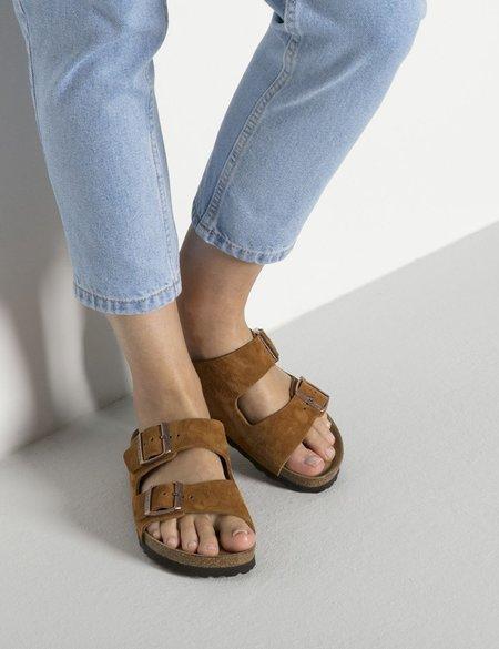 Birkenstock Arizona Sandals Suede (Regular) - Mink Brown